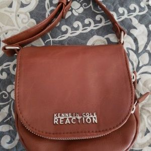 KENNETH COLE CROSSBODY BAG BROWN LEATHER